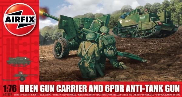 Airfix Bren Gun Carrier Anti Tank Gun