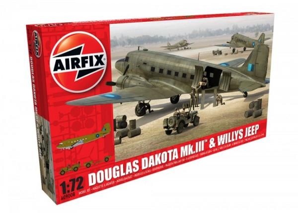 Airfix Douglas Dakota Mkiii Willys Jeep