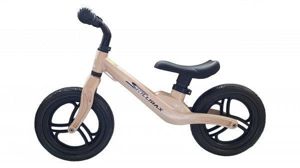 Bicicleta fara pedale 12 inch Aurie foarte usoara 2kg inaltime reglabila roti EVA cadru magneziu