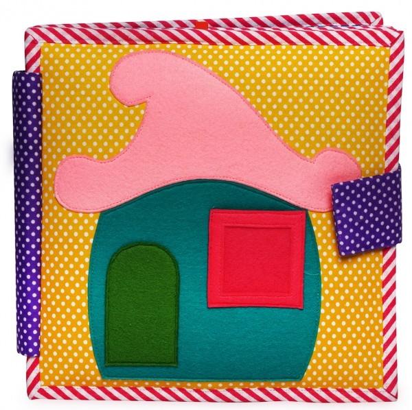 Carti educative din fetru cu activitati pentru bebelusi si copii Me All Day - Quiet books - solutia ideala pentru deplasari cu masina sau avionul
