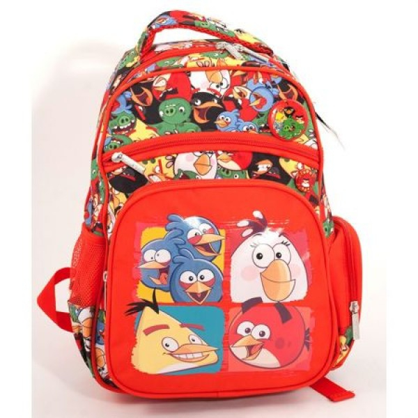 Ghiozdan CL 0 Angry Birds Rosu Pigna si minge cadou