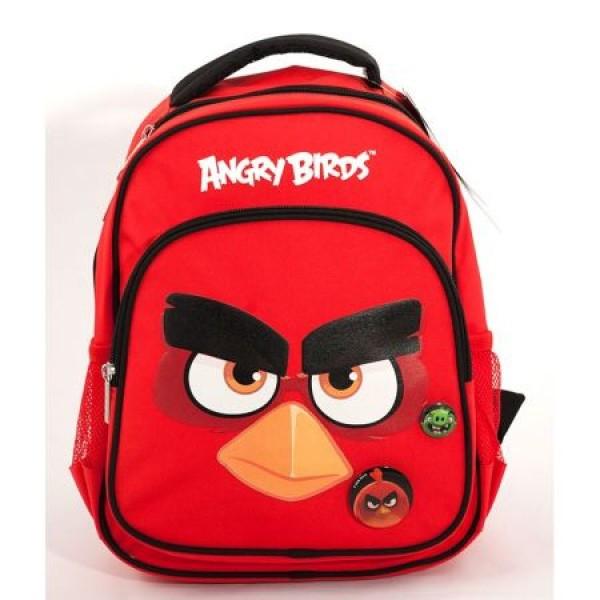 Ghiozdan Gradinita Angry Birds Rosu Pigna si minge cadou