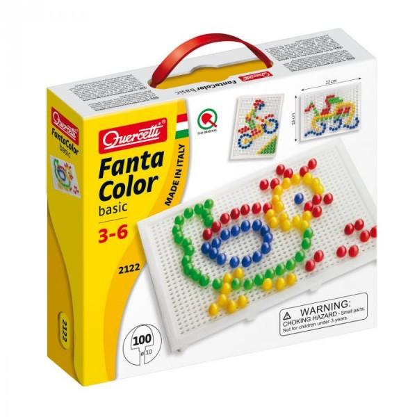 Joc creativ Fanta Color Basic Quercetti creatie imagini mozaic 100 piese 0
