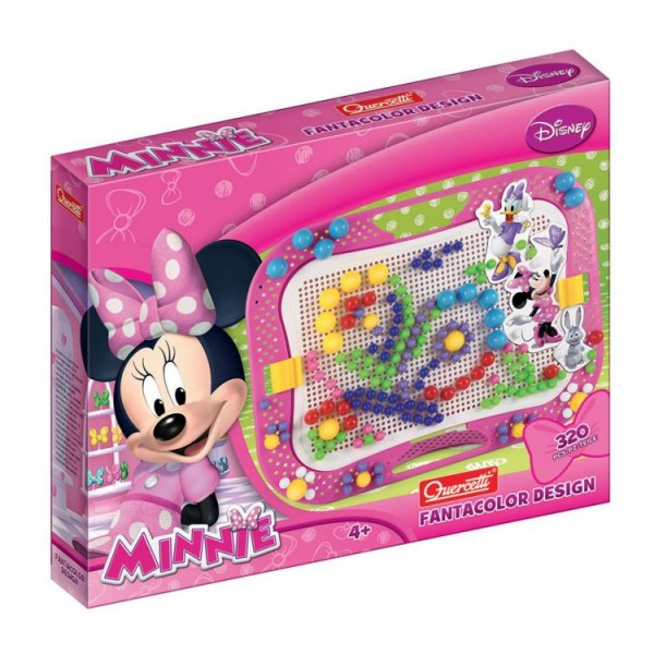 Joc creativ Fanta Color Design Quercetti creatie imagini mozaic Minnie Mouse 320 piese 0