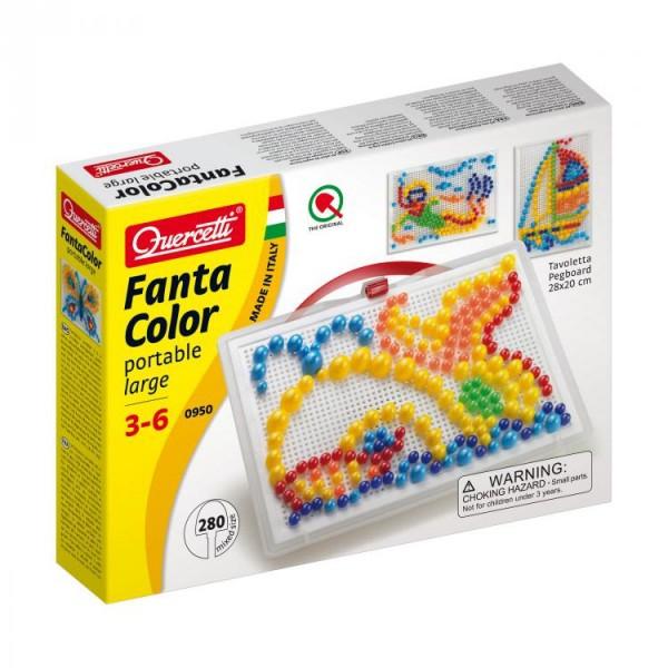 Joc creativ Fanta Color Portabil Quercetti creatie imagini mozaic 280 piese 0