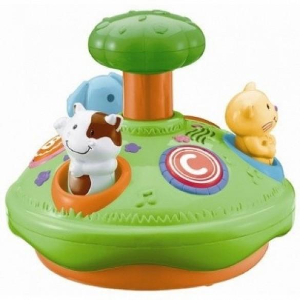 Jucarie bebelusi WinFun Spinner cu animalute si melodii