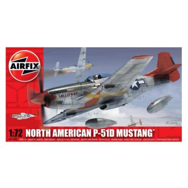 Kit aeromodele Airfix 01004 Avion North American P-51D Mustang Scara 1:72  0