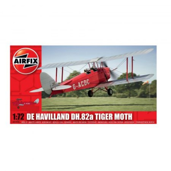 Kit aeromodele Airfix 01024 Avin De Havilland DH.82a Tiger Moth Scara 1:72