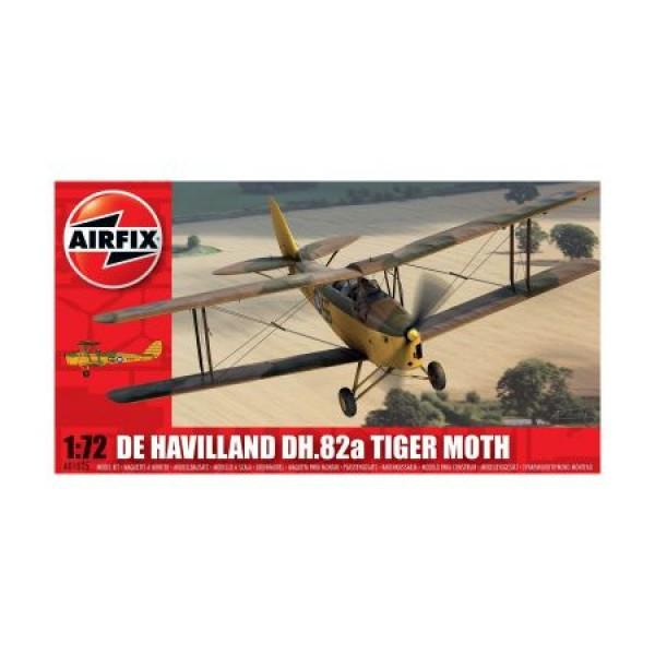 Kit aeromodele Airfix 01025 Avion De Havilland DH.82a Tiger Moth Scara 1:72