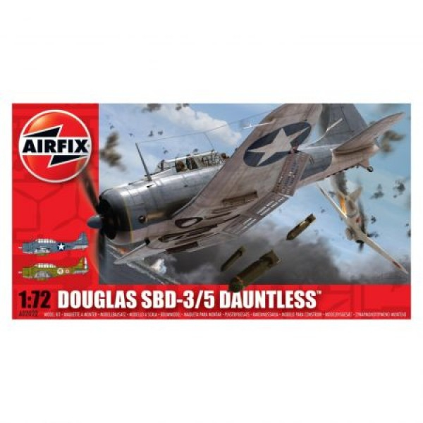 Kit aeromodele Airfix 02022 Avion Douglas SBD - 3/5 Dauntless Scara 1:72 0