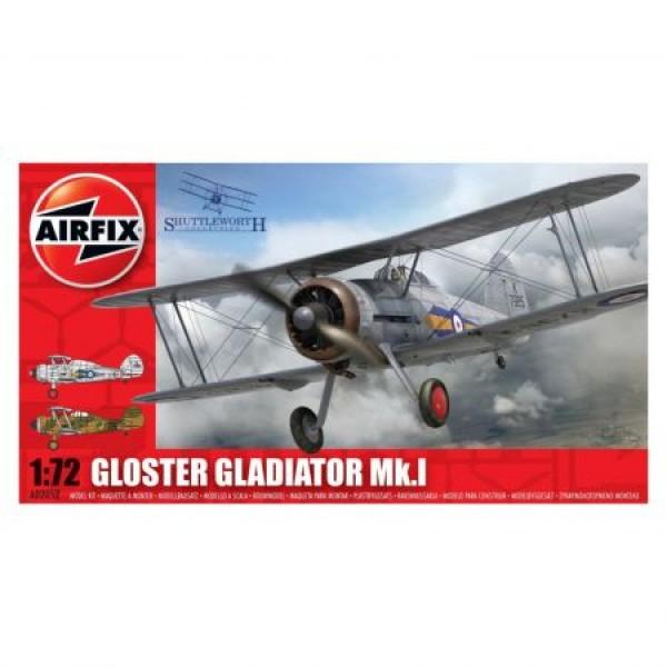 Kit aeromodele Airfix 02052 Avion Gloster Gladiator MkI Scara 1:72