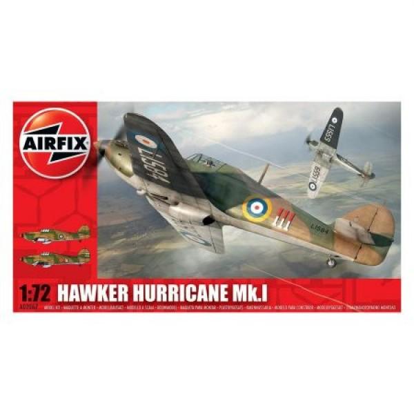 Kit aeromodele Airfix 02067 Avion Hawker Hurricane MkI Scara 1:72  0