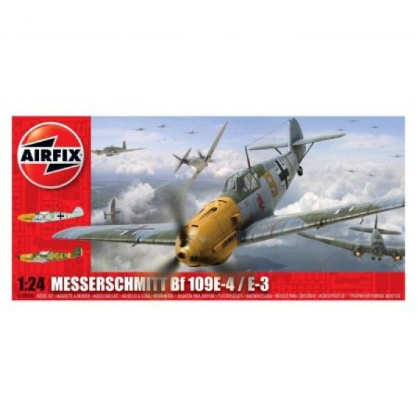 Kit aeromodele Airfix 12002A Avion Messerschmitt Bf109E-4/E-3 Scara 1:24