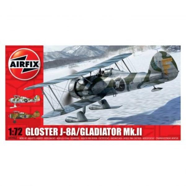 Kit aeromodele Airfix 2063 Avion Gloster Gladiator J-8A/Gladiator Mk.II Scara 1:72