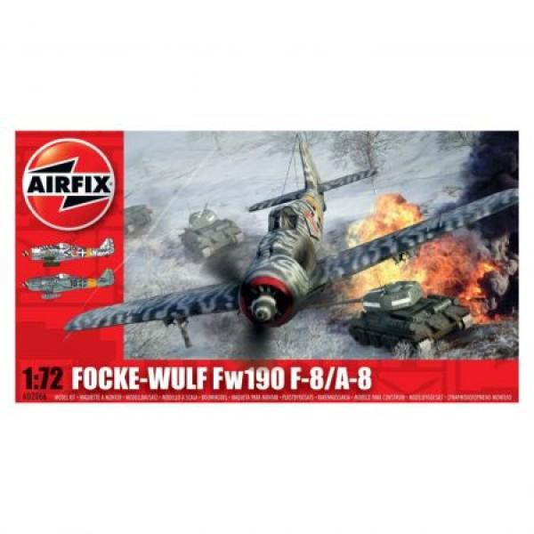 Kit aeromodele Airfix 2066 Avion Focke Wulf Fw190 F-8/A-8 Scara 1:72