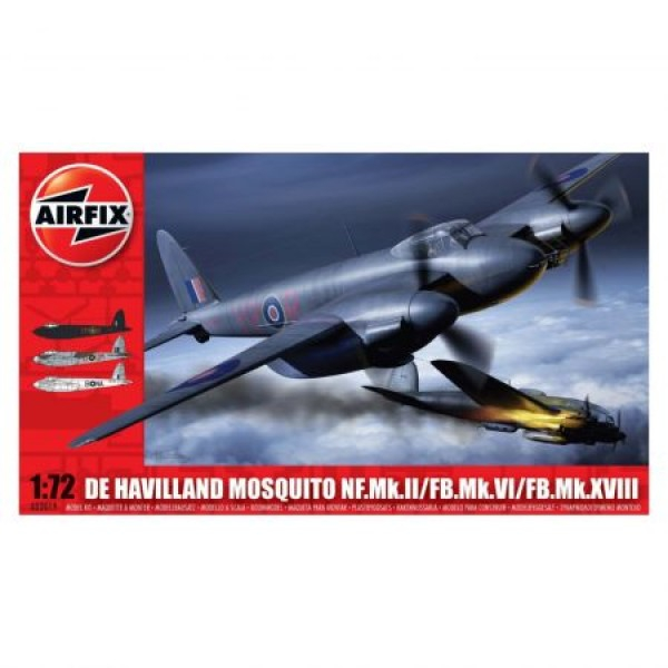Kit aeromodele Airfix 3019 Avion De Havilland Mosquito MkII/VI/XVIII Scara 1:72