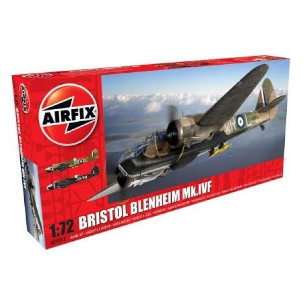 Kit aeromodele Airfix 4017 Avion Bristol Blenheim MkIV Fighter Scara 1:72