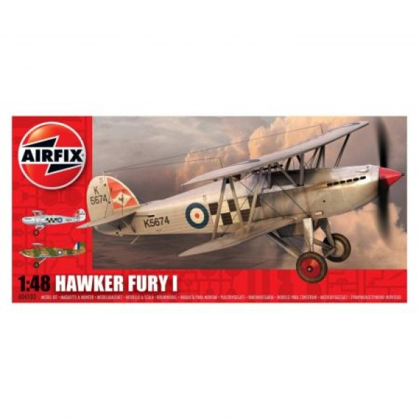 Kit aeromodele Airfix 4103 Avion Hawker Fury I Scara 1:48