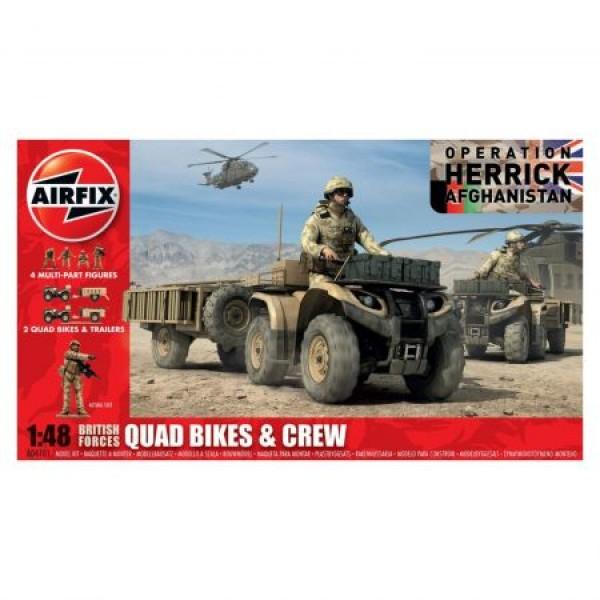 Kit automodele Airfix 4701 Quad British Quad Bikes and Crew Scara 1:48
