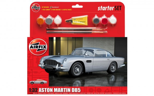 Kit constructie Airfix Aston Martin DB5 Starter Set scara 1:32