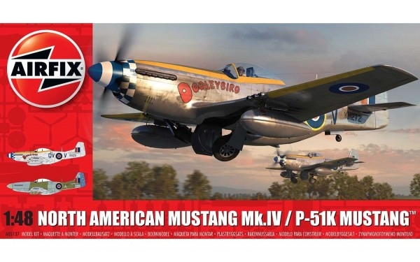 Kit constructie Airfix avion North American Mustang Mk I 1 48
