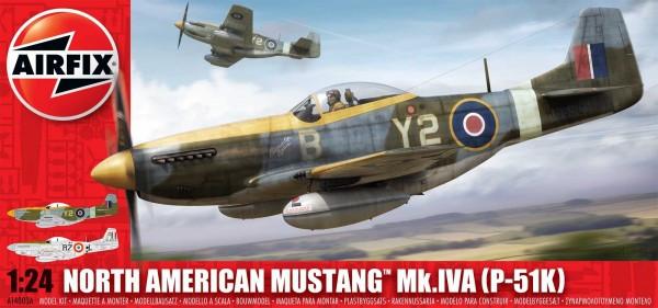 Kit constructie Airfix avion North American P-51K/RF Mustang 1:24