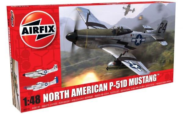 Kit constructie Airfix avion North American P51-D Mustang 1:48