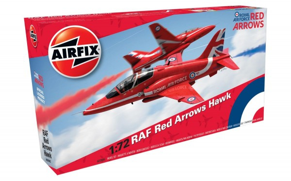 Kit constructie Airfix avion RAF Red Arrows Hawk 0