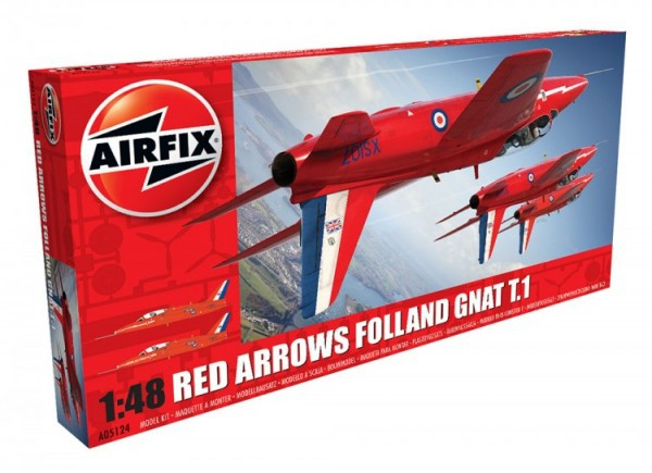 Kit constructie Airfix avion Red Arrows Gnat