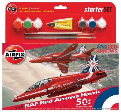 Kit constructie Avion RAF Red Arrows HAWK Mediu