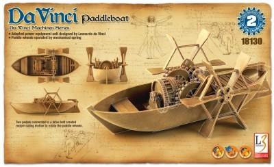 Kit constructie Barca cu vasle functionala DaVinci
