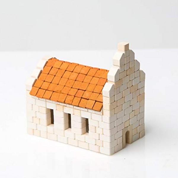 Kit constructie caramizi Wise Elk Biserica 340 piese reutilizabile