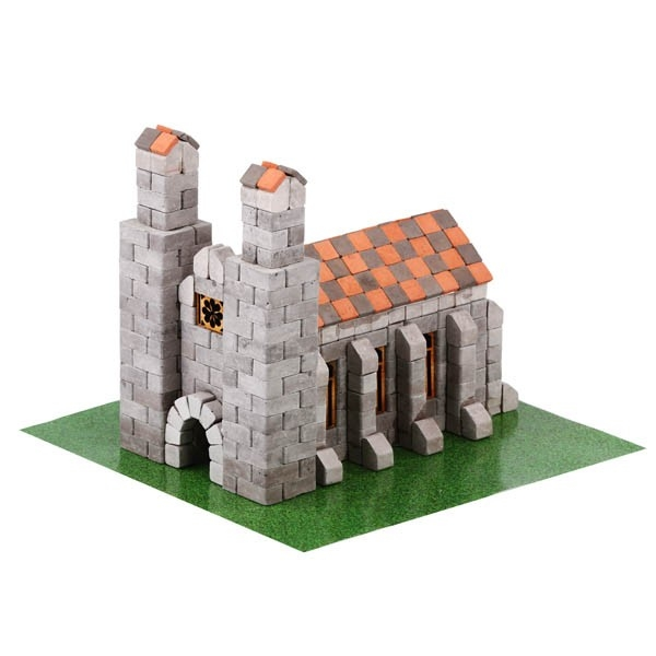 Kit constructie caramizi Wise Elk Biserica Germana 500 piese reutilizabile