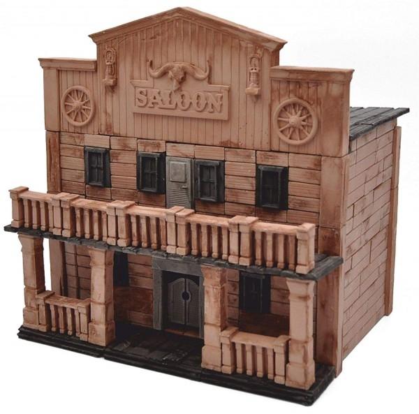 Kit constructie caramizi Wise Elk Saloon Texan 270 piese reutilizabile 0