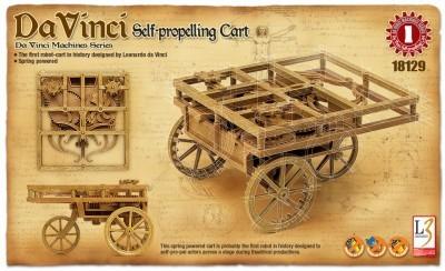 Kit constructie Carucior cu autopropulsie functional DaVinci