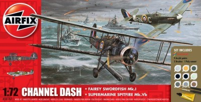 Kit constructie Channel Dash Fairey Swordfish si Supermarine Spitfire