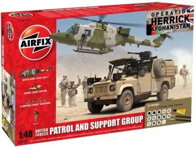Kit constructie Set  Afganistan Elicopter Land Rover  WMIK
