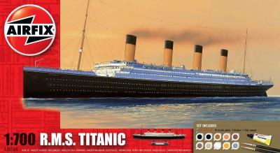 Kit constructie si pictura Airfix RMS Titanic scara 1/700