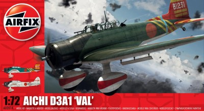 Kit constructie si pictura avion Aichi D3A1 Val 0