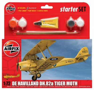 Kit constructie si pictura avion De Havilland DH82A Tiger Moth