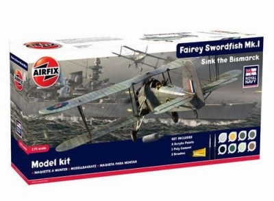 Kit constructie si pictura Avion Fairey Swordfish MK I
