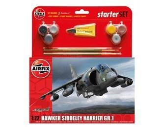 Kit constructie si pictura avion Hawker Harrier GR1