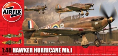 Kit constructie si pictura avion Hawker Hurricane Mk1
