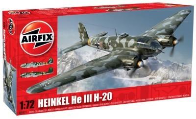 Kit constructie si pictura avion Heinkel He-III