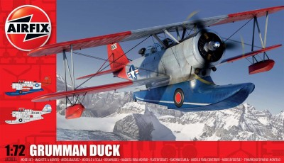 Kit constructie si pictura avion J2F Grumman Duck