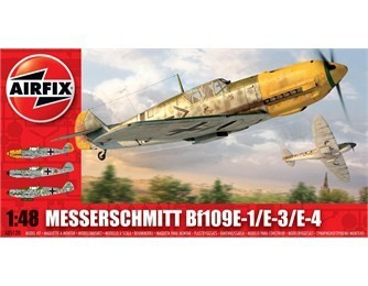 Kit constructie si pictura avion Messerschmitt Bf109E-1/E-3/E-4