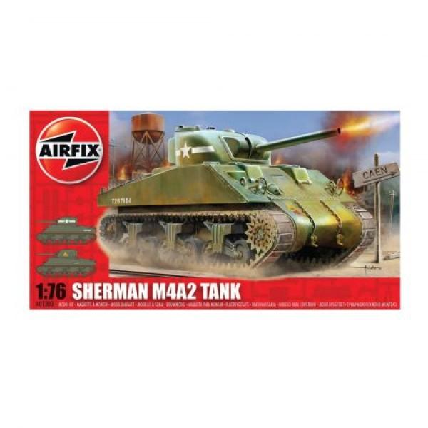 Kit modelism Airfix 01303 Tanc Sherman M4A2 Tank Scara 1:76  0