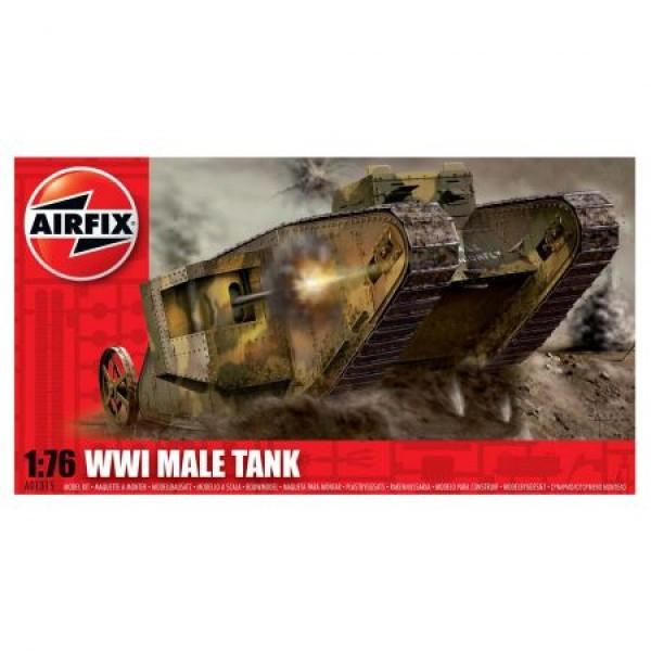 Kit modelism Airfix 01315 Tanc WWI Male Tank Scara 1:76