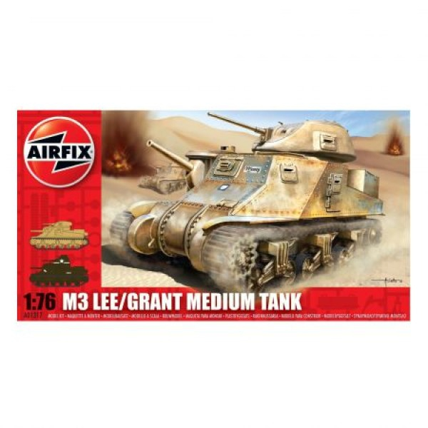 Kit modelism Airfix 01317 Tanc M3 Lee/Grant Medium Tank Scara 1:76