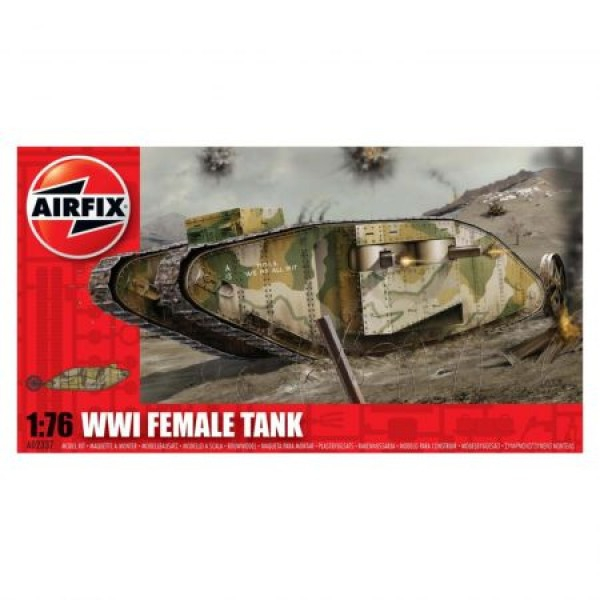 Kit modelism Airfix 02337 Tanc WWI Female Tank Scara 1:76 0